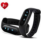 - Wonyered Bluetooth OLED Touch Screen IP67 Waterproof Smart Fitness Tracker With Heart Rate Blood pressure Slee