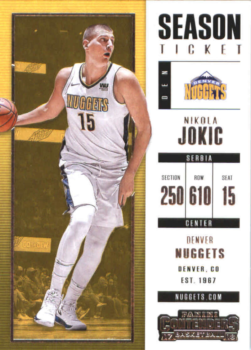 #88 Nikola jokic 2017-18 Panini Contenders baloncesto Walker