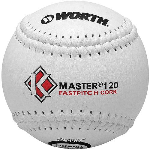 "Worth Pro Leather K-Master 120 Official ASA Fastpitch Softball-12"" - 1 Dozen"