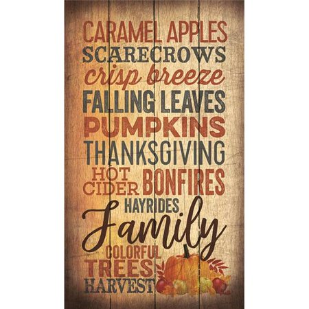 Artistic Reflections PA1080 14 x 24 in. Caramel Apples Scarecrows Crisp Breeze Wood Pallet Design Wall Art Sign - Decorating Caramel Apples For Halloween