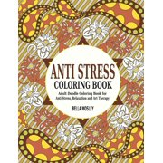 Anti Stress Coloring Book Adult Doodle For Relaxation And Art
