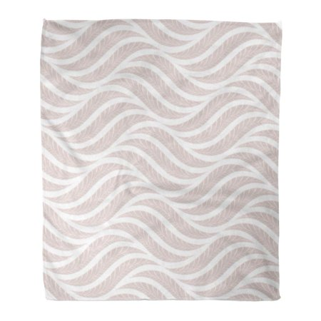 ASHLEIGH Throw Blanket Warm Cozy Print Flannel Gray Leaf The Geometric Pattern Leaves Pink and White Silver Carpet Comfortable Soft for Bed Sofa and Couch 50x60 (Warm Aged Silver Leaf)
