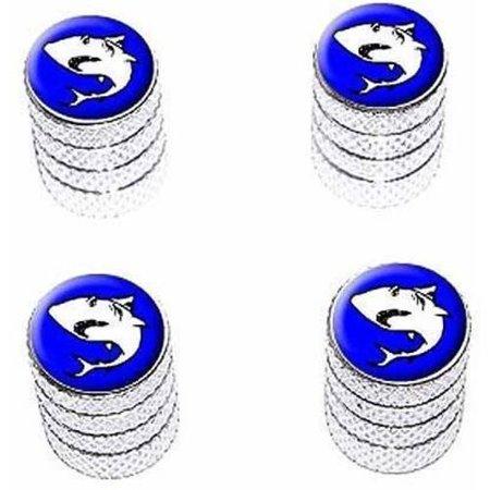 Shark Tire Rim Wheel Aluminum Valve Stem Caps, Multiple Colors