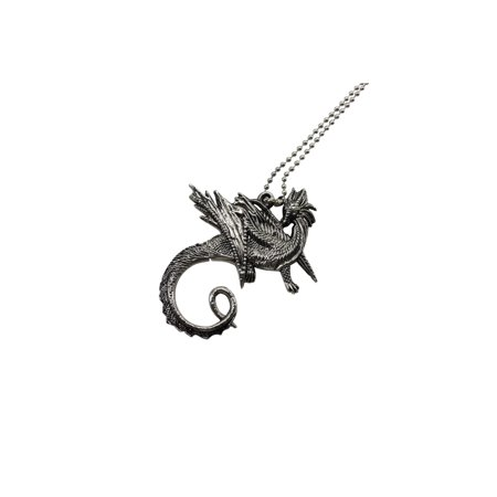 Dragon Stainless Steel Necklace With Hidden Blade Medallion Knife Mini - Hidden Knives