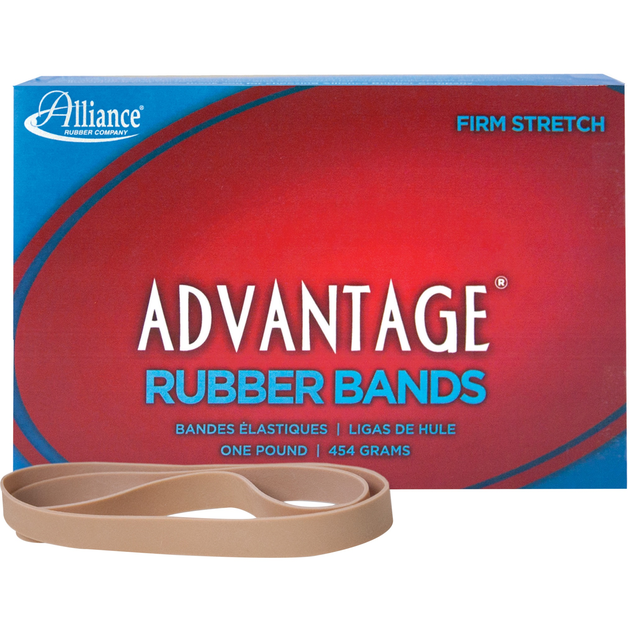 "Alliance, Advantage Rubber Bands, #107, 7"" x 5/8"", 1 lb. box"