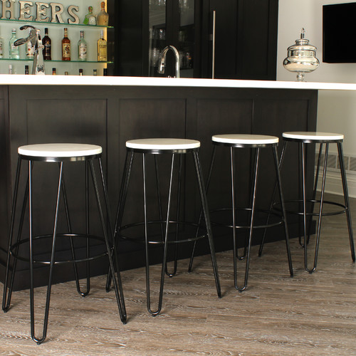 Kate And Laurel Tully 30 Bar Stool Set Of 4