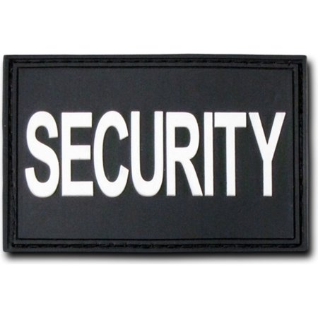 Rubber Patch - RapDom Security Text Rubber H&L Velcro-Back Patch [2-Pack - Black/White - 3x2