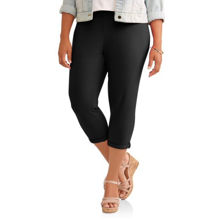 Women's Plus Roll Cuff Capri Jegging