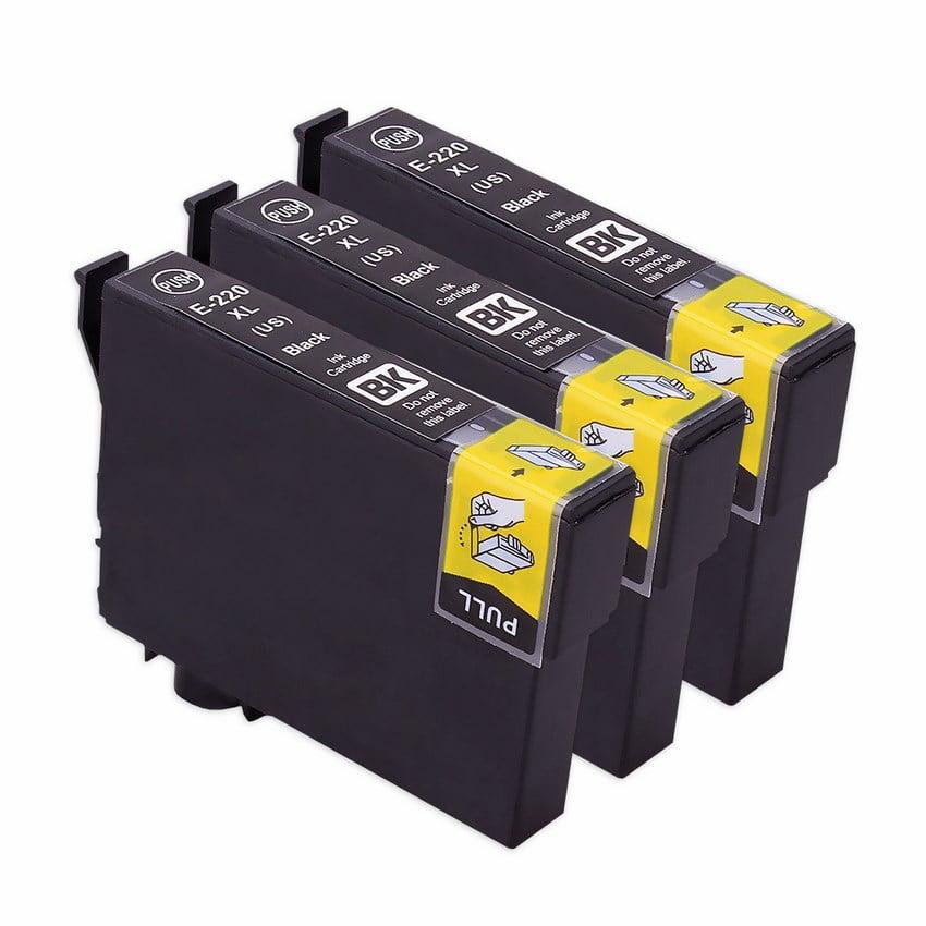 Epson Workforce Wf-2650 Ink Cartridges (3-Pack Black High Yield) (Compatible)