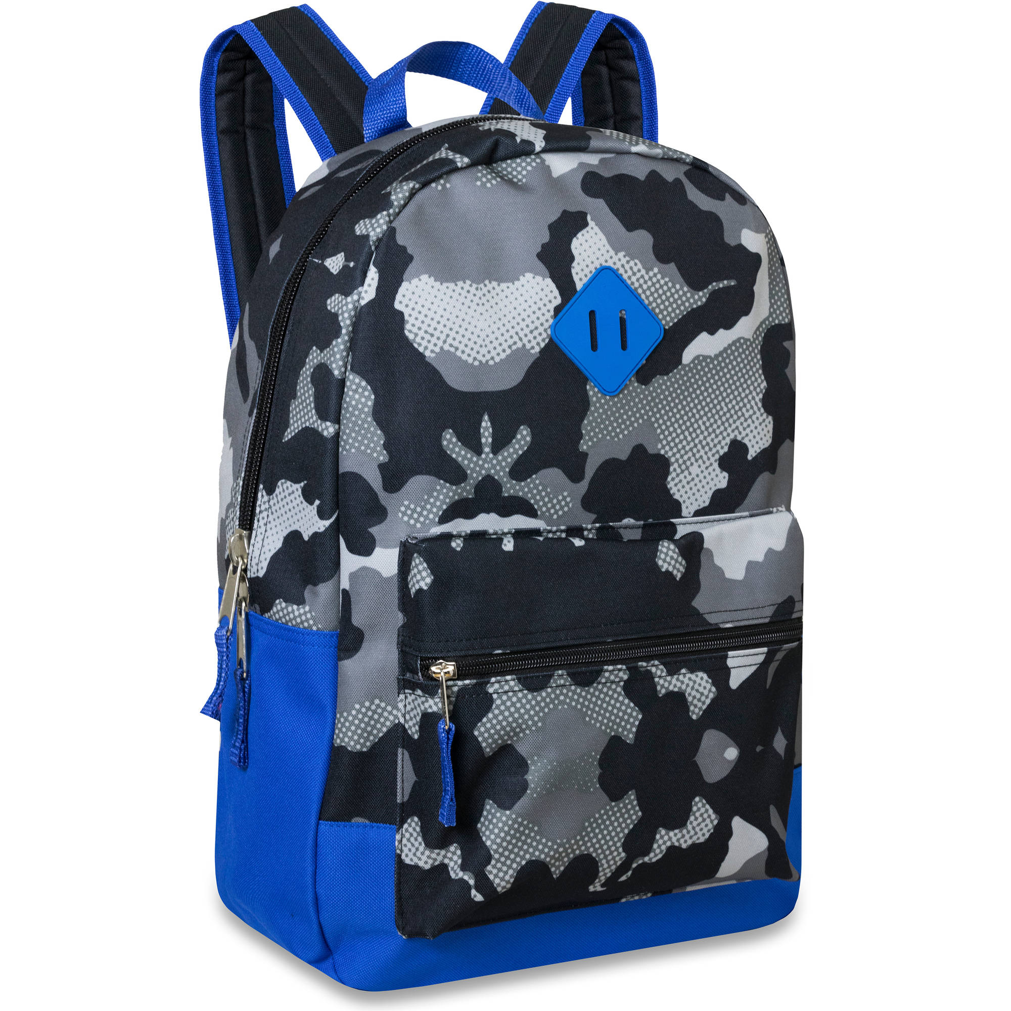 17 Inch Camouflage Printed Backpack With Front Accessory Pocket
