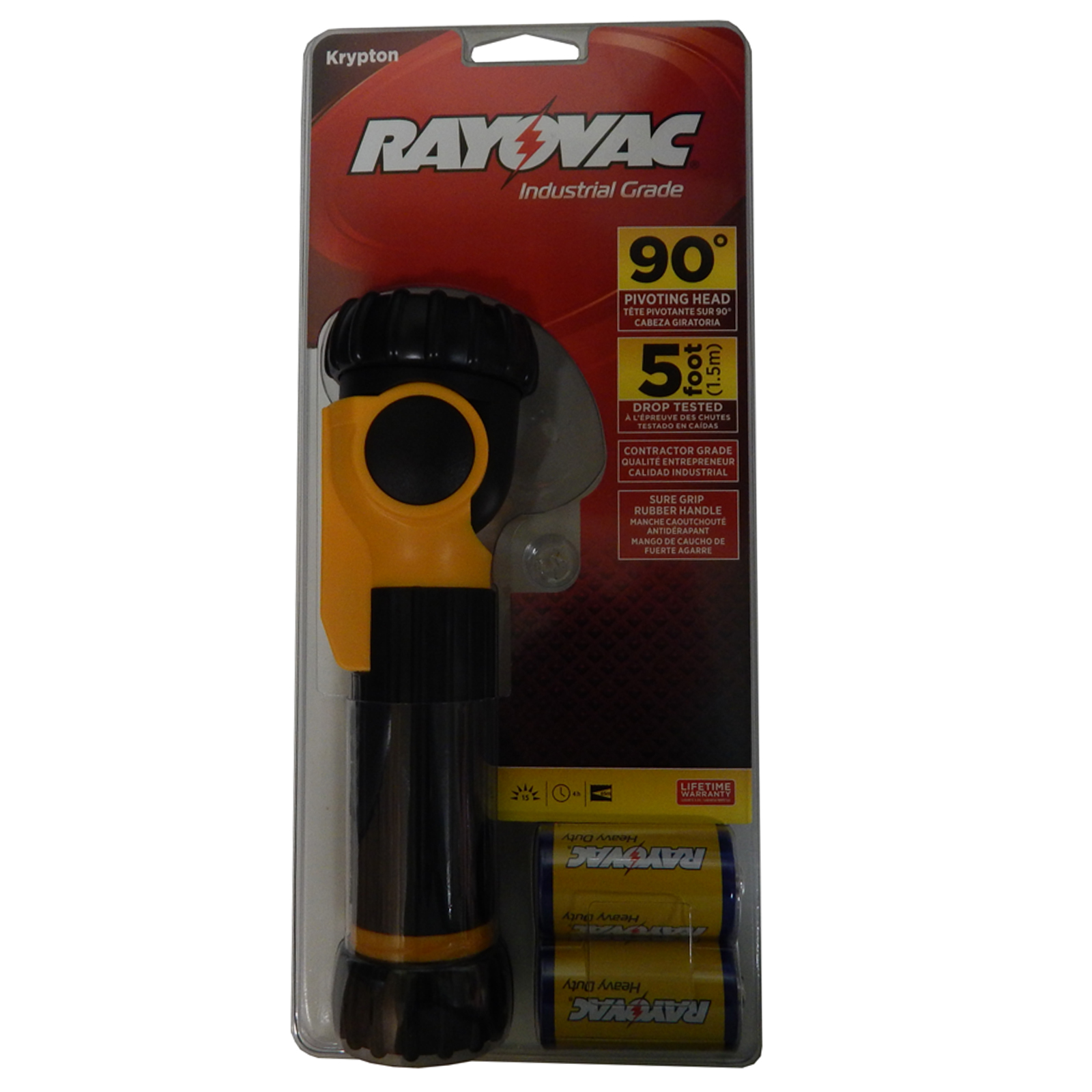 Rayovac Industrial Grade 2D Swivel Flashlight Batteries Included, ISL2D-BC