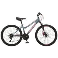 Mongoose Excursion mountain bike, 24-inch wheels, 21 speeds, girls, black