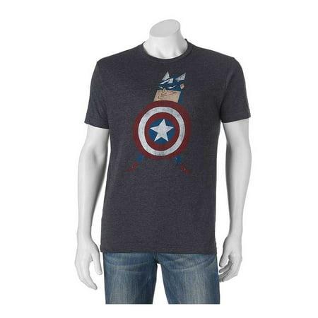 Men's Marvel Captain America Cartoon Tee T-shirt