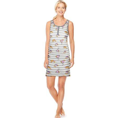 Ultimate™ Women's Henley Tank Sleepshirt 28999