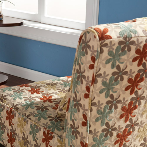 Pair of Chairs with Pillows, Trefoil, Multi