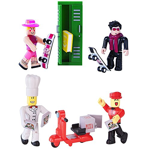 Roblox High School Work At A Pizza Place Action Figure Bundle