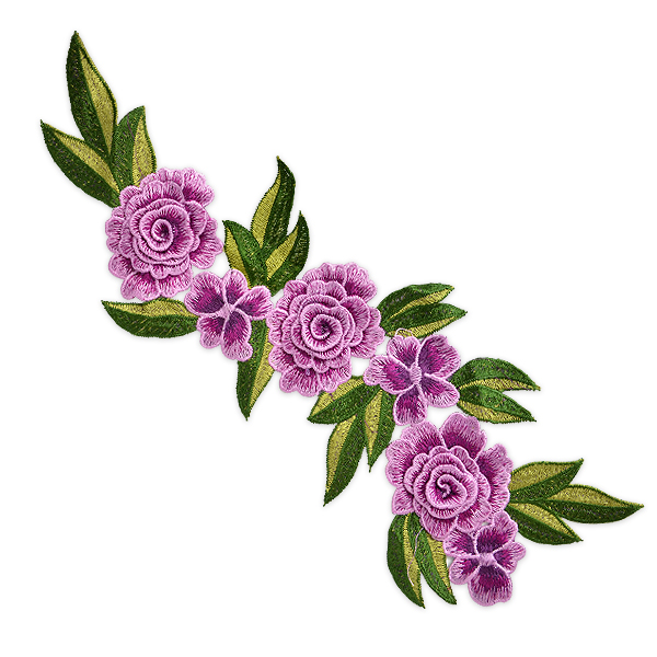 Expo Int'l Amina Layered Embroidered Flower Patch Applique