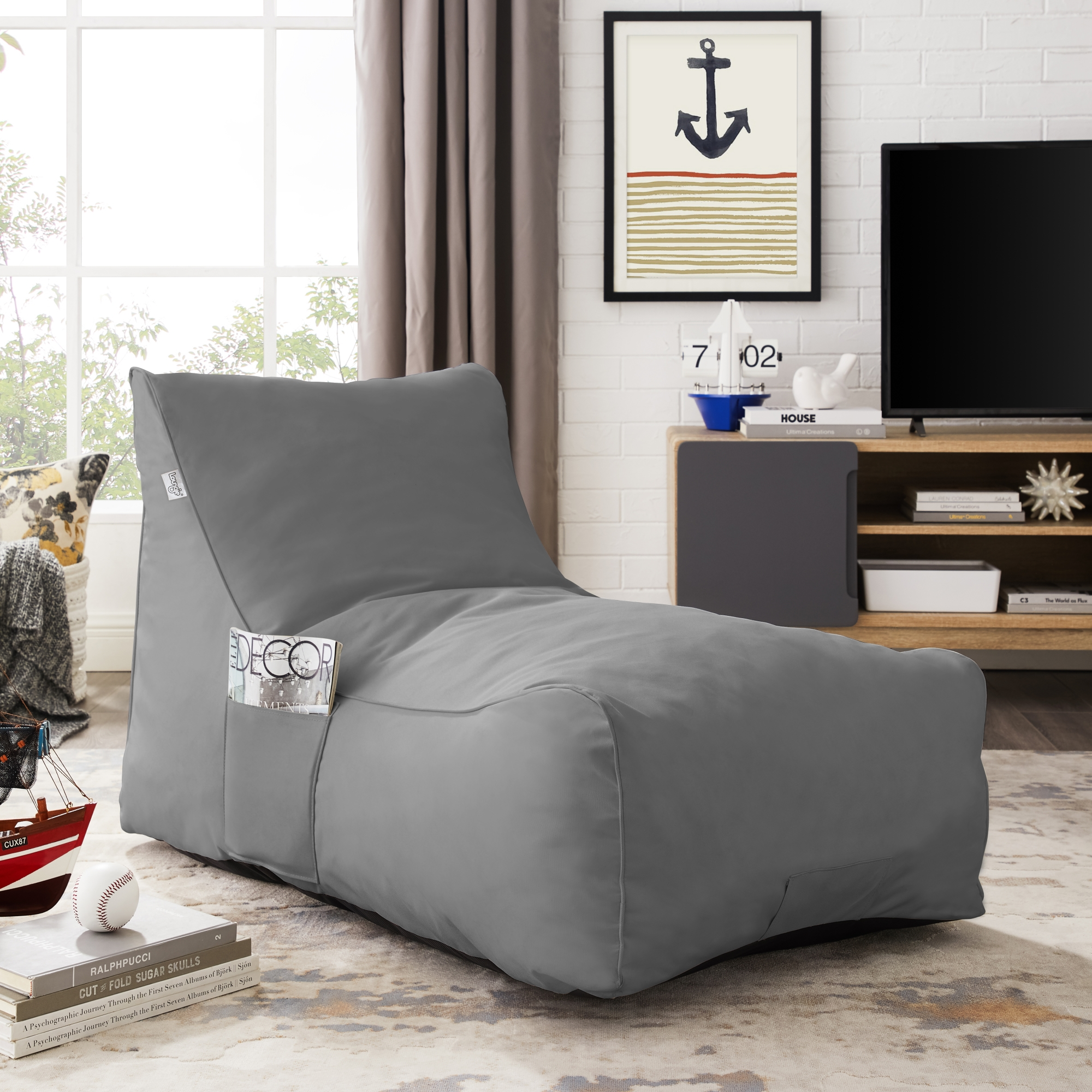Resty Grey Memory Foam Sofa - Nylon   Indoor/ Outdoor   Self Expanding   Water Resistant   Sleeper Couch