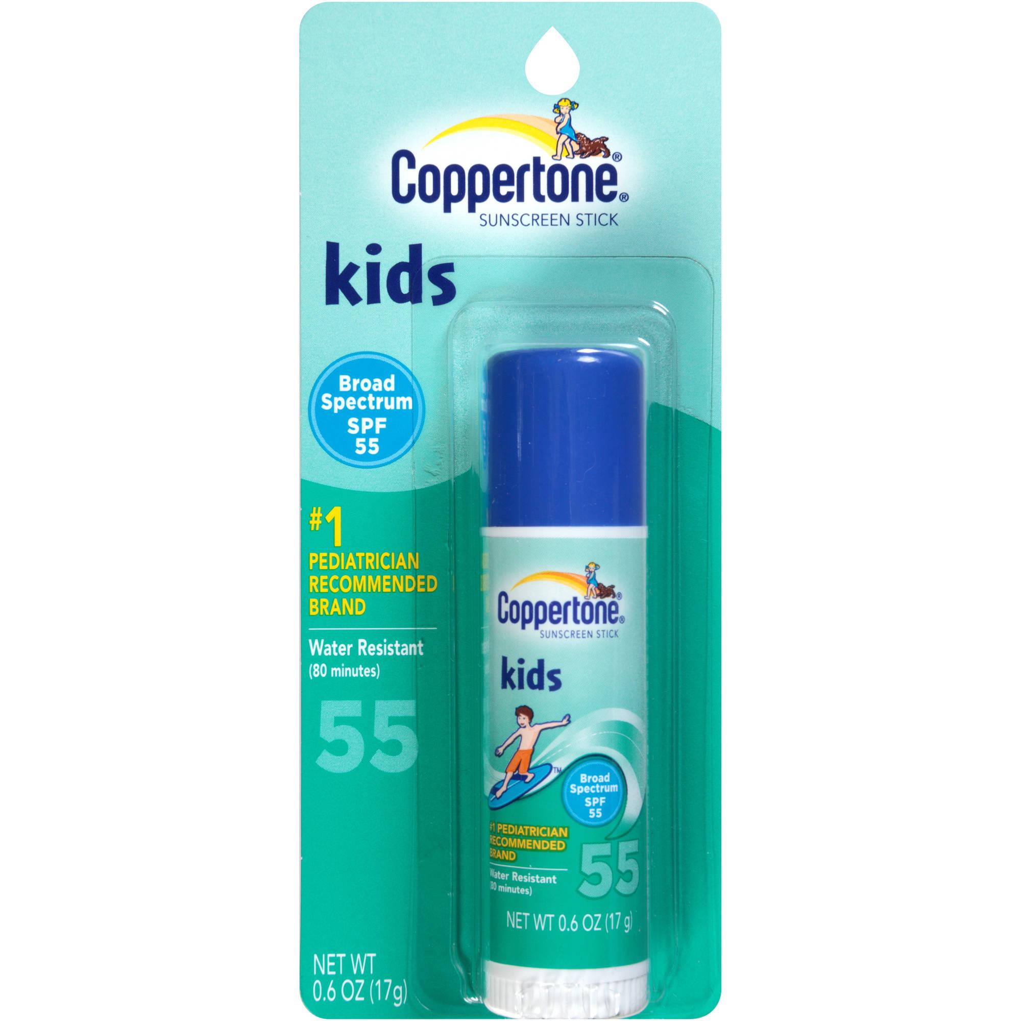 Coppertone Kids Fragrance-Free SPF 55 Sunscreen Stick, .6 oz