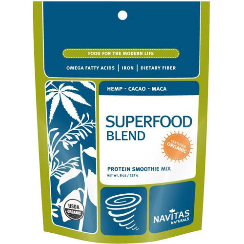 Navitas Naturals Superfood Blend Protein Smoothie Mix, 8 oz