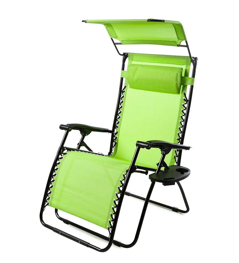 Deluxe Zero Gravity Chair with Canopy, Table & Drink Holder