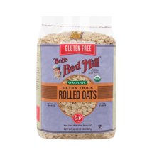 Oatmeal: Bob's Red Mill Extra Thick Rolled Oats Gluten Free