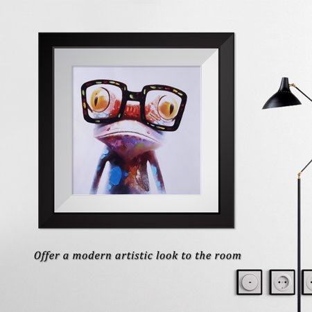 WALFRONT Frog Cartoon Canvas Painting Printed Picture Wall Art for Home Office Bedroom Decor (50*50cm), Wall Art, Modern Canvas Painting - image 3 of 8