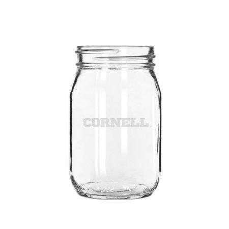 Big Glass Jars (Cornell Big Red 16 oz. Deep Etched Old Fashion Drinking)