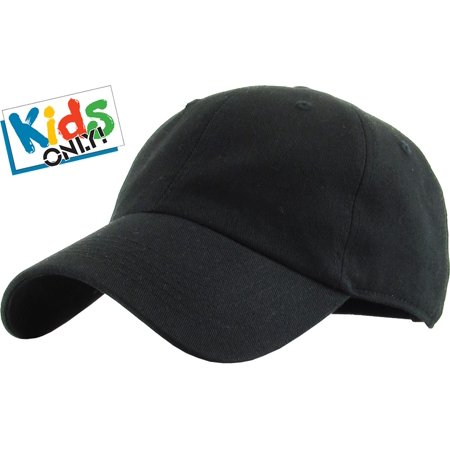 Jr Childrens Cowboy Hat (Junior Size Cotton Baseball Cap Adjustable Dad Hat Youth Kids )