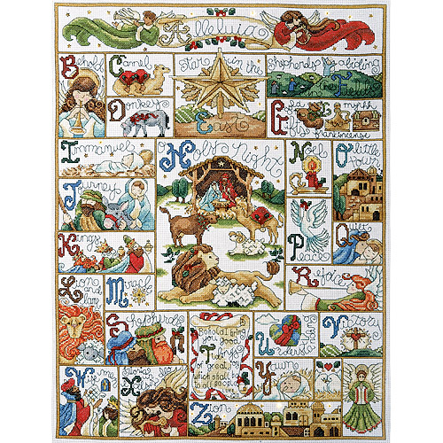 """Oh Holy Night Counted Cross Stitch Kit, 16"""" x 21"""", 14-count"""