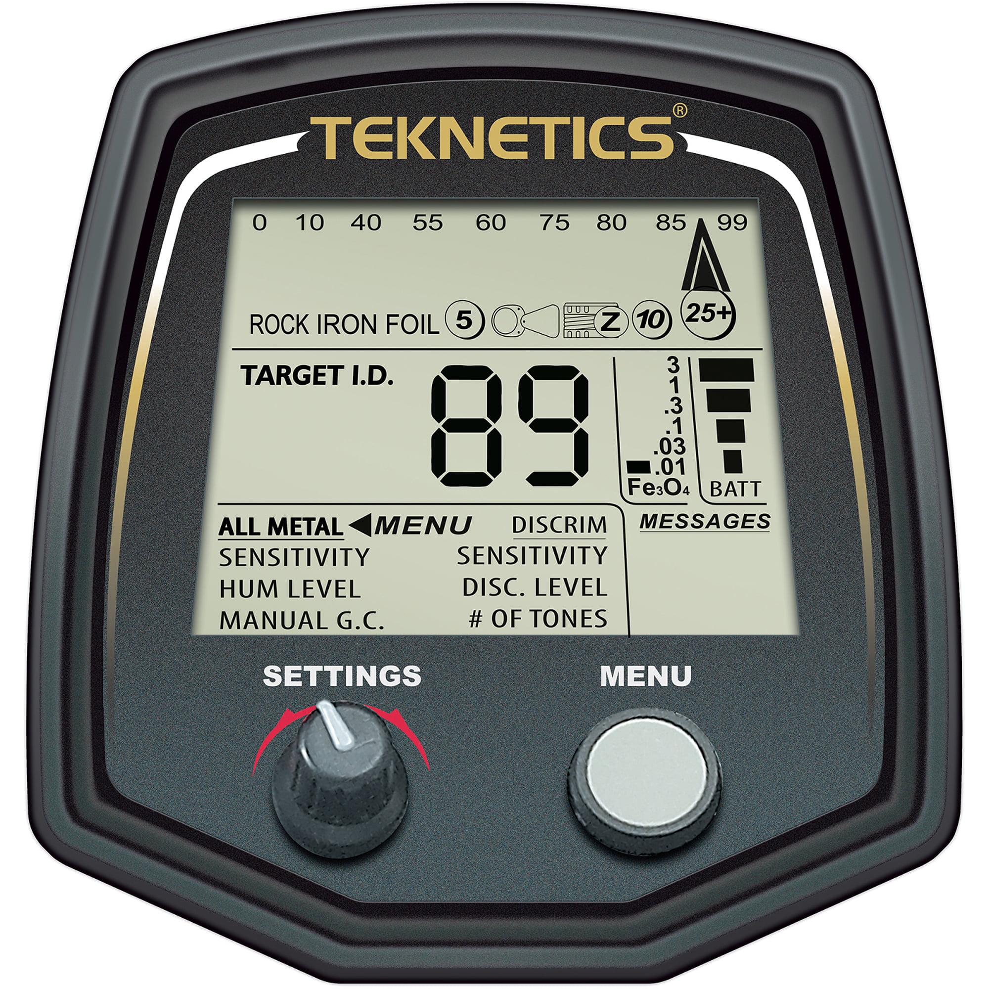 """Teknetics T2LTD-BLK Special Edition T2 Metal Detector w  5"""" DD & 11"""" DD by Teknetics"""