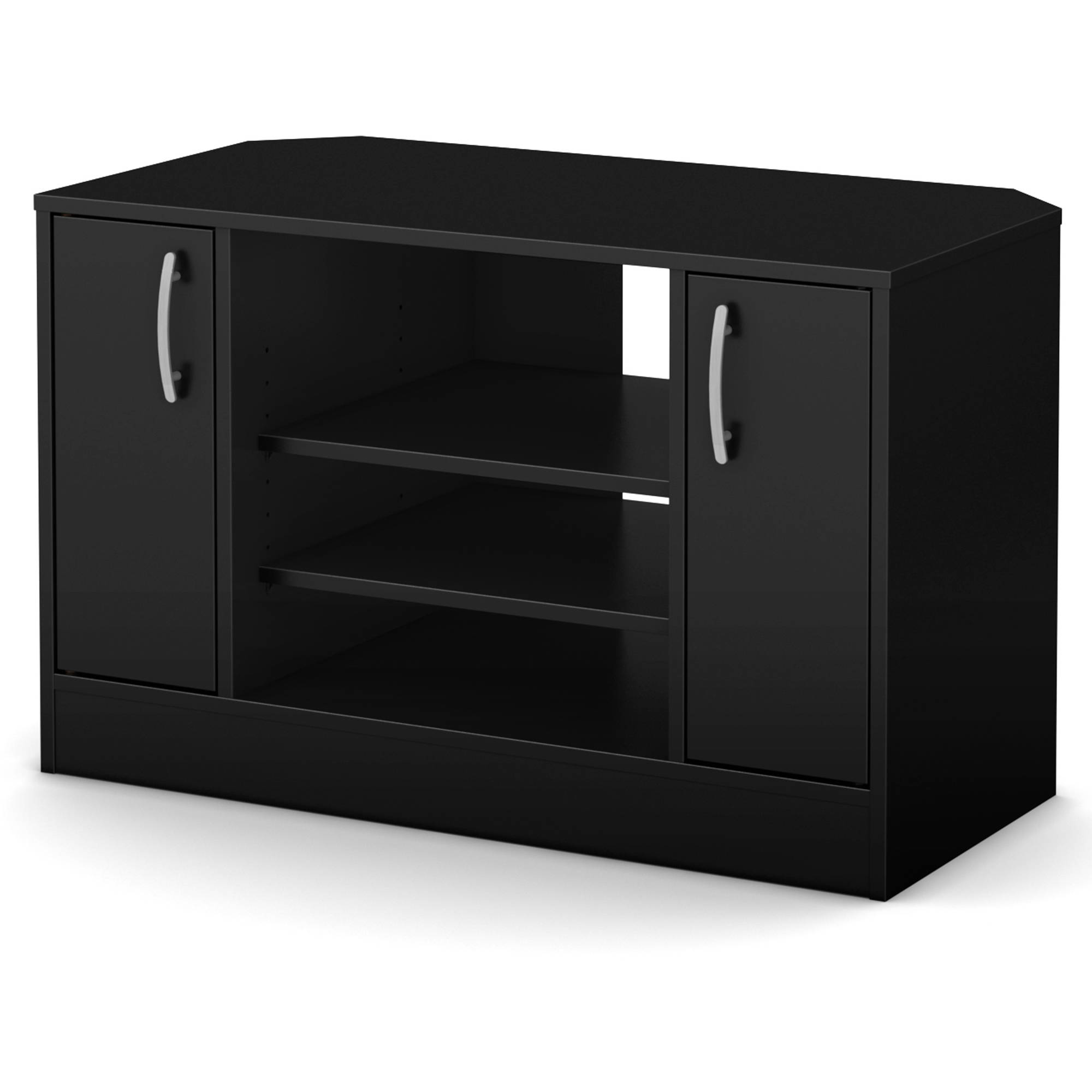"""South Shore Smart Basics Corner TV Stand with Doors for TVs up to 42"""", Multiple Finishes"""
