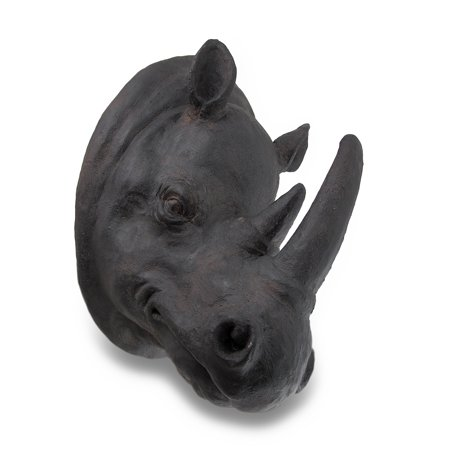 Rhinoceros Head Wall Mounted Sculpture Safari Trophy