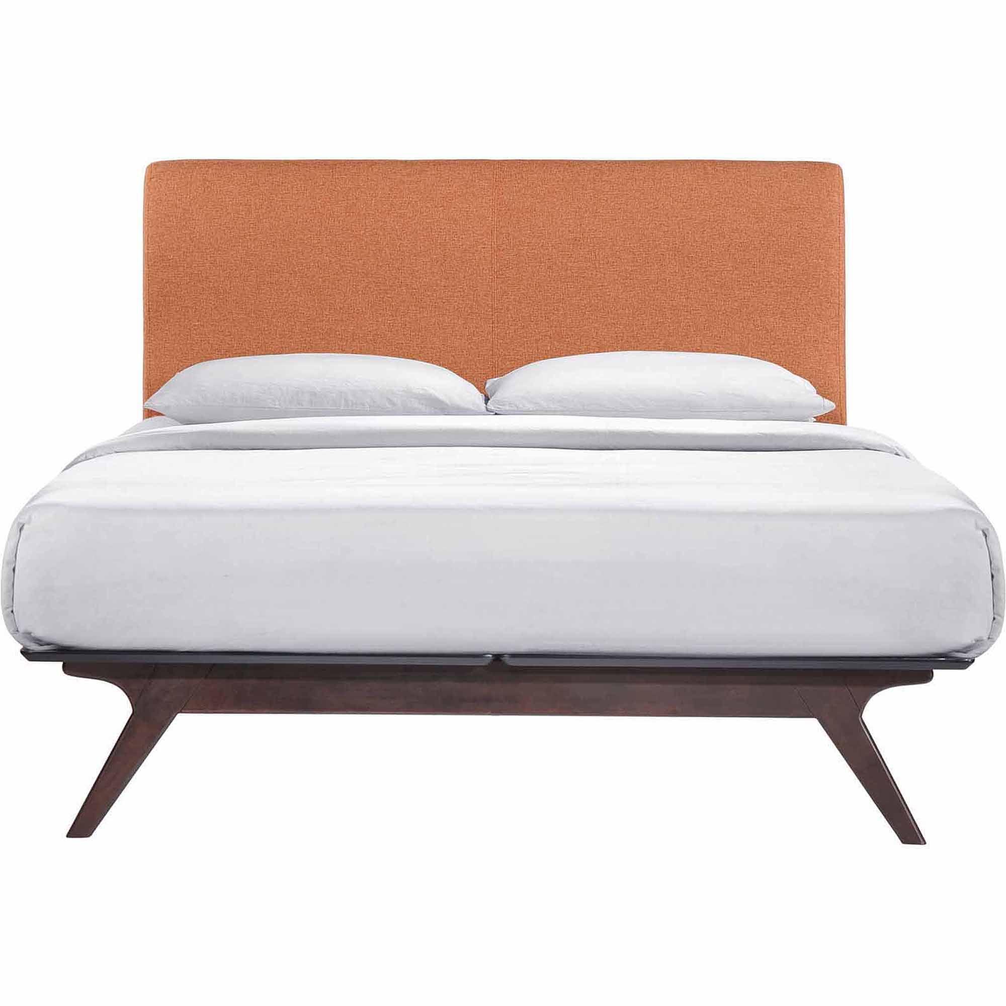 modway tracy queen upholstered platform bed multiple colors walmartcom - Queen Platform Bed Frames