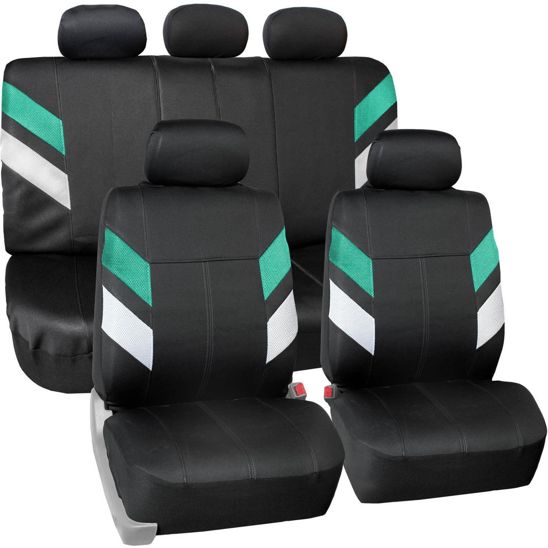 FH Group Modern Edge Waterproof Durable Neoprene Full Set Seat Covers, Mint