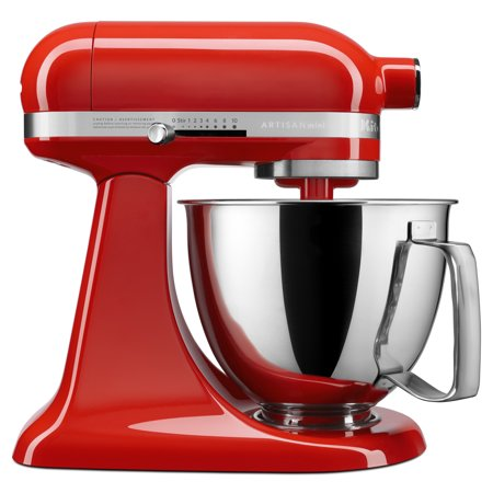 KitchenAid Artisan Mini 3.5 Quart Tilt-Head Stand Mixer - Hot Sauce - Closeout Mono Mini Mixer