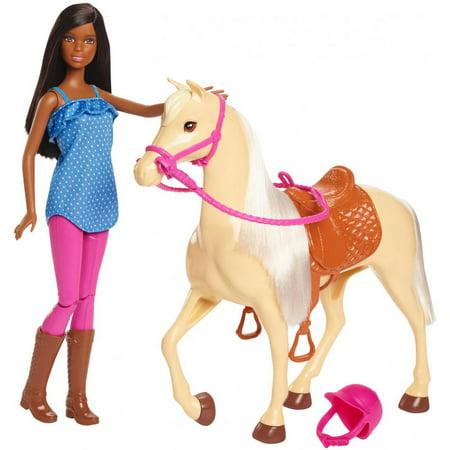 Barbie Doll and Horse, Black Hair (Barbie Doll Black Hair)
