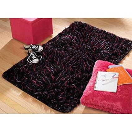 Faux Fur Spike Rug Black 3 X 4 8 Quot By Your Zone