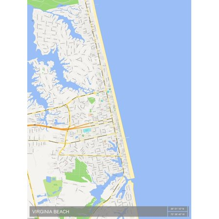Virginia Beach, United States of America Map Poster Wall (Ar 15 For Sale In Virginia Beach)