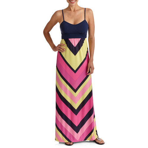 Stitch Women's Chevron Stripe Maxi Dress