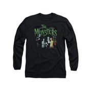 The Munsters Family Sitcom TV 50th Anniversary Family Pose Adult LSleeve T-Shirt