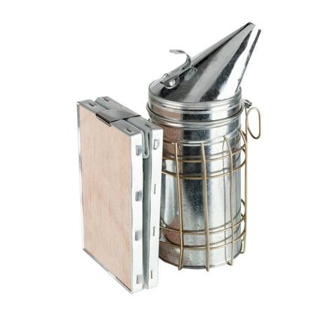Honey Keeper Bee Smoker Bee Hive Smoker Stainless Steel with Heat Shield Protection Calming Beekeeping Equipment
