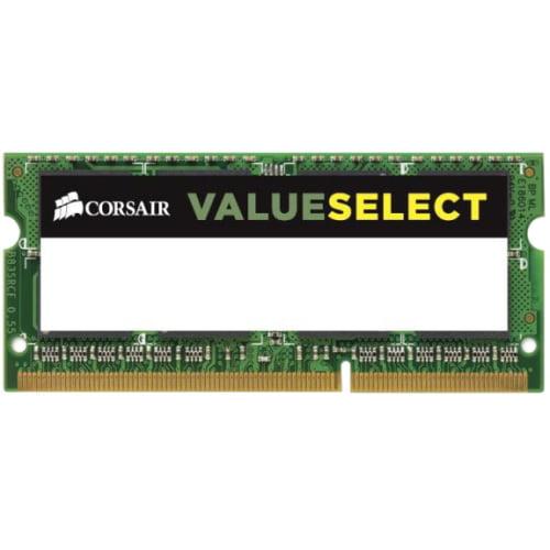 Corsair CMSO4GX3M1C1333C9 Corsair Laptop Memory CMSO4GX3M1C1333C9 4GB 1333MHz CL9 DDR3L SODIMM - 4 GB (1 x 4 GB) - DDR3 SDRAM - 1333 MHz DDR3-1333/PC3-10600 - 1.35 V - Unbuffered - 204-pin - SoDIMM