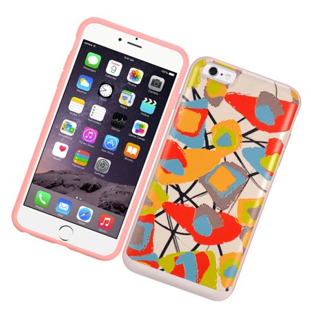 Insten Flowers Hard Hybrid Rubberized Silicone Case with Card slot For Apple iPhone 6/6s - Colorful - image 3 de 3