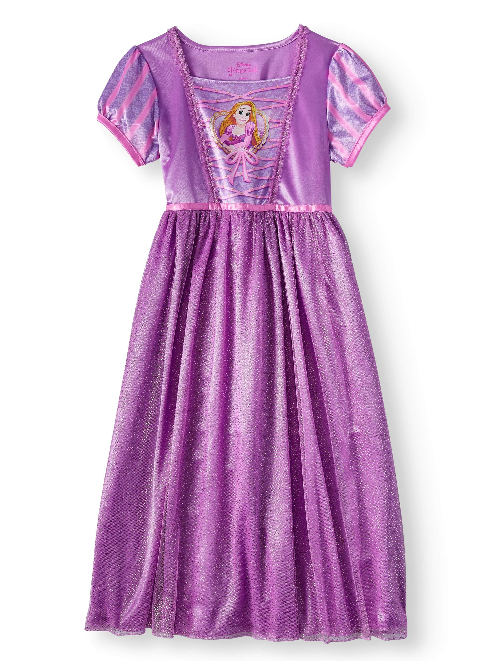 DISNEY TANGLED RAPUNZEL - Disney Tangled Girls  Rapunzel Short Sleeve Fantasy  Nightgown - Walmart.com ee2620d8a