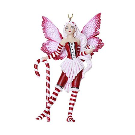Peppermint Fairy Hanging Ornament Amy Brown Holiday Collection Christmas Tree Hanging Ornaments 4 inch