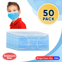 Disposable Kids Face Mask Child Size pleated 3 ply - 50 pieces Children Size