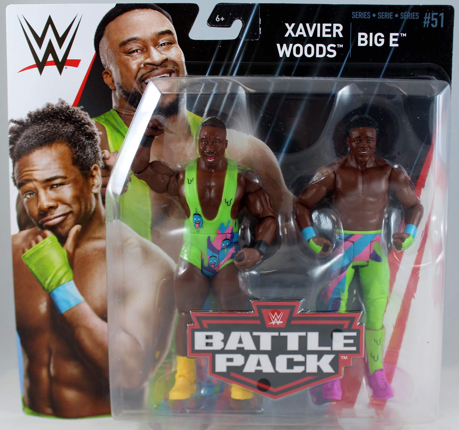 Big E & Xavier Woods (New Day) WWE Battle Packs 51 Toy Wrestling Action Figures by Mattel