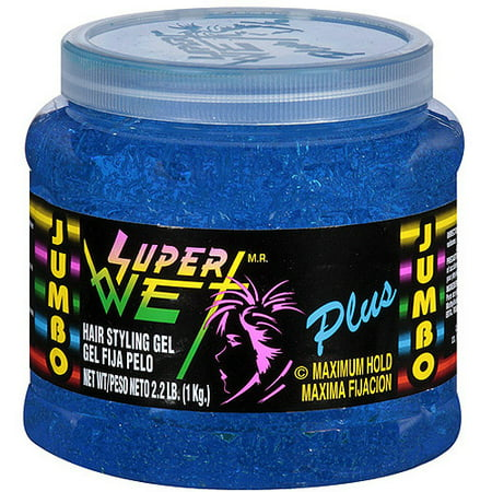 hair styling gel plus maximum hold blue hair styling gel 35 oz 4850