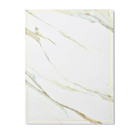 Gartner Studios Marble & Gold Foil Stationery, 20 count